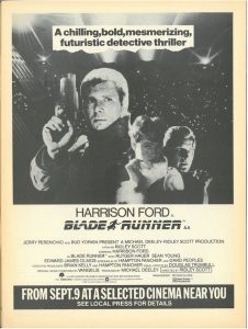 Blade Runner 1982 Print Ad.