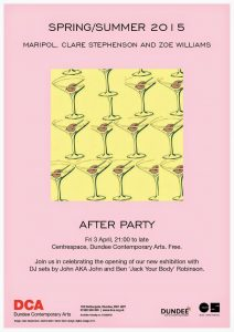 SS15 After Party Poster (Image Clare Stephenson)