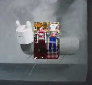 Jane Topping, 'Article I', 2007, oil and photograph on board