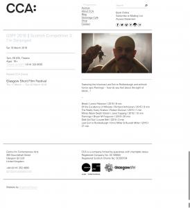 GSSF @ the CCA