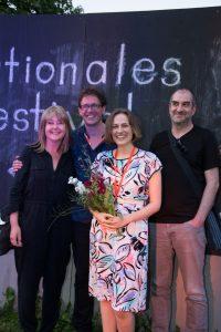 NoBudget winner Anja Dornieden with the jury